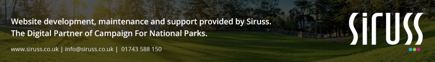 Website development, maintenance and support provided by Siruss. The Digital Partner of Campaign For National Parks.