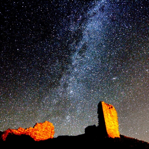 Milky Way over Harbottle Castle - Ian Glendinning