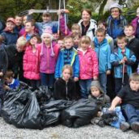 Coniston Primary School litter pickers