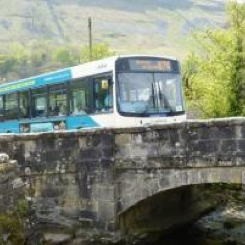 DalesBus at Kettlewell, Yorkshire Dales