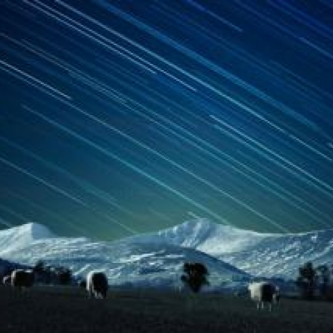Dark skies in the Brecon Beacons National Park
