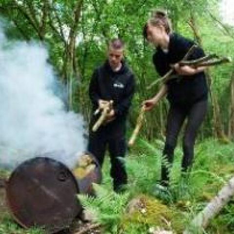 Mosaic Lake District Charcoal burning