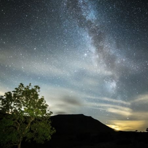 The milky way over the Yorkshire Dales