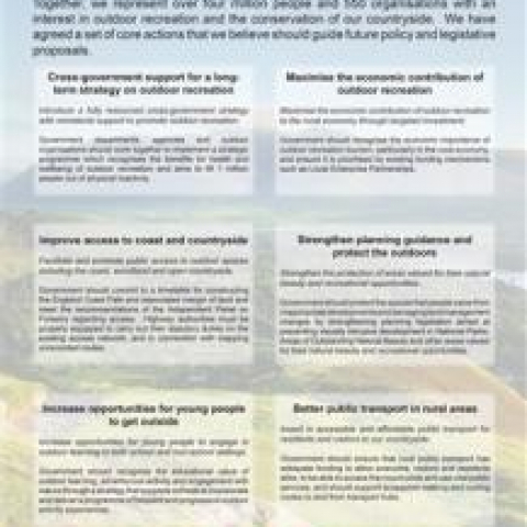 Proposals for Government Action on the Outdoors