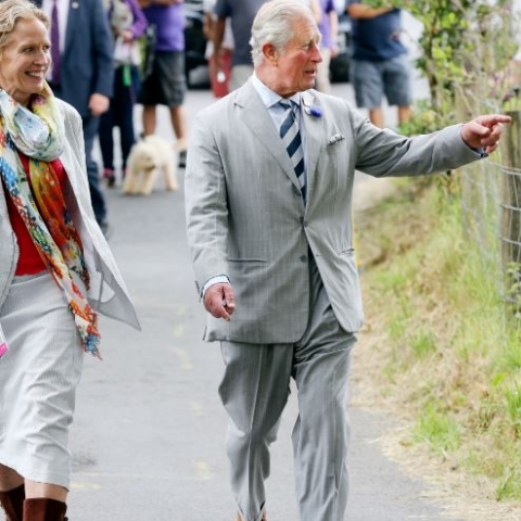 Prince Charles attends celebrations in Exmoor. Photo: Exmoor National Park Authority