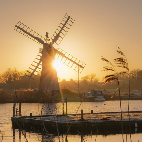 Thurne Windpump by Christopher Hill