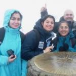 Zobia with other Champions on top of Snowdon