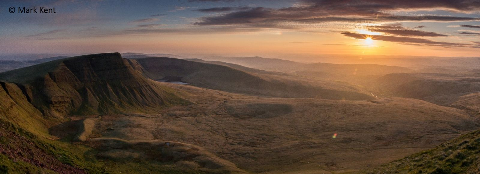 Mark Kent's winning photo of the Brecon Beacons
