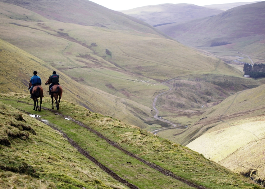 Horse riding in the beautiful Cheviots