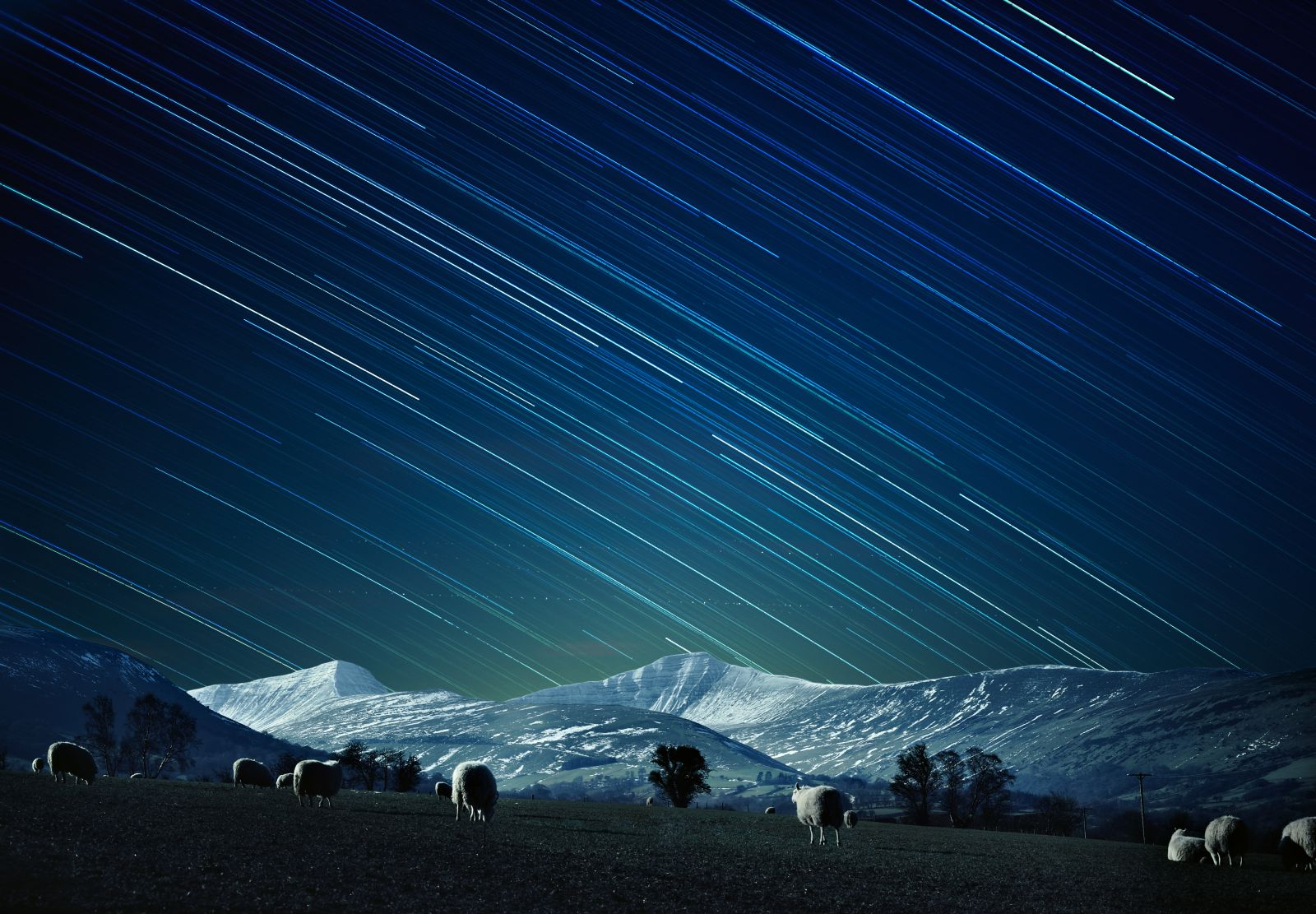 Dark skies in the Brecon Beacons National Park. Photo credit: Michael Sinclair