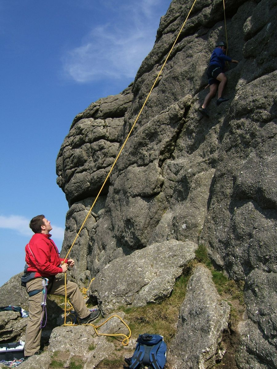There's adventure to be had such as climbing in Dartmoor