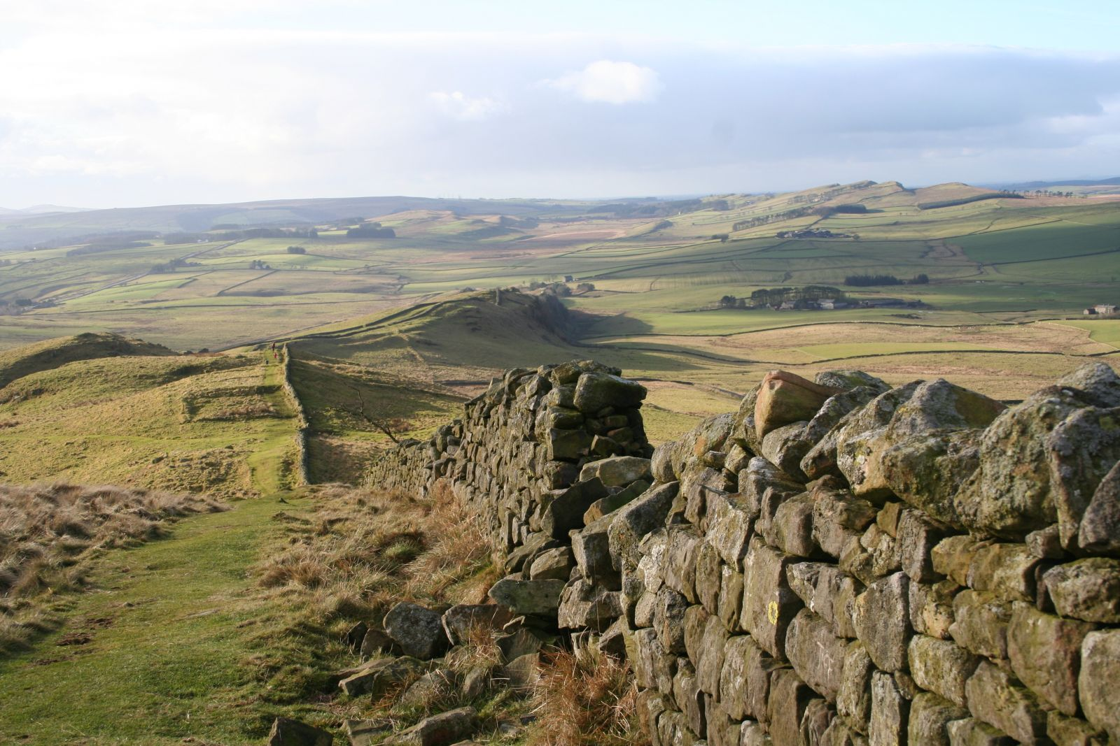 Hadrian's Wall in Northumberland National Park