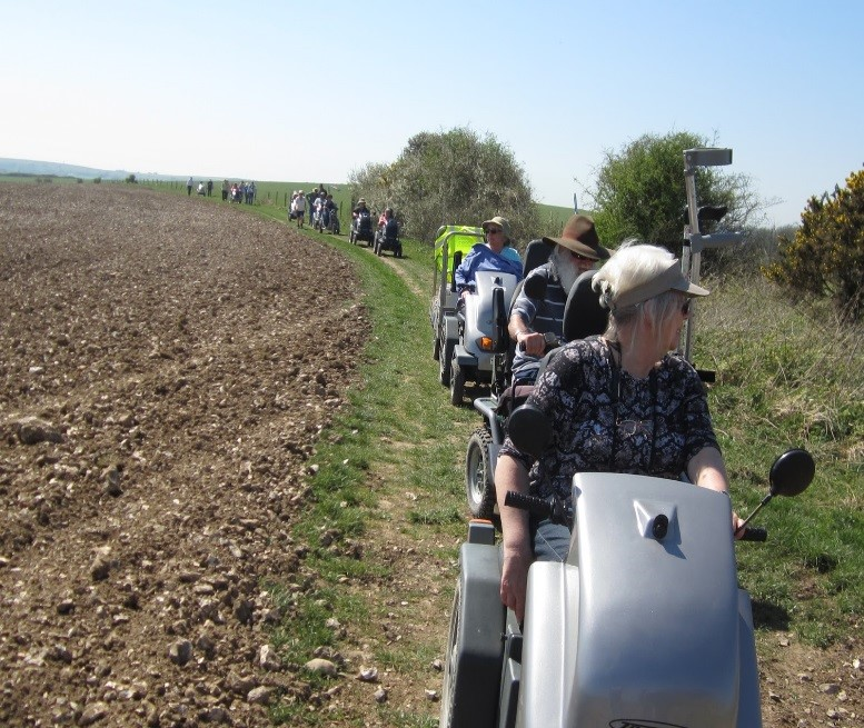 Disabled Ramblers in the South Downs