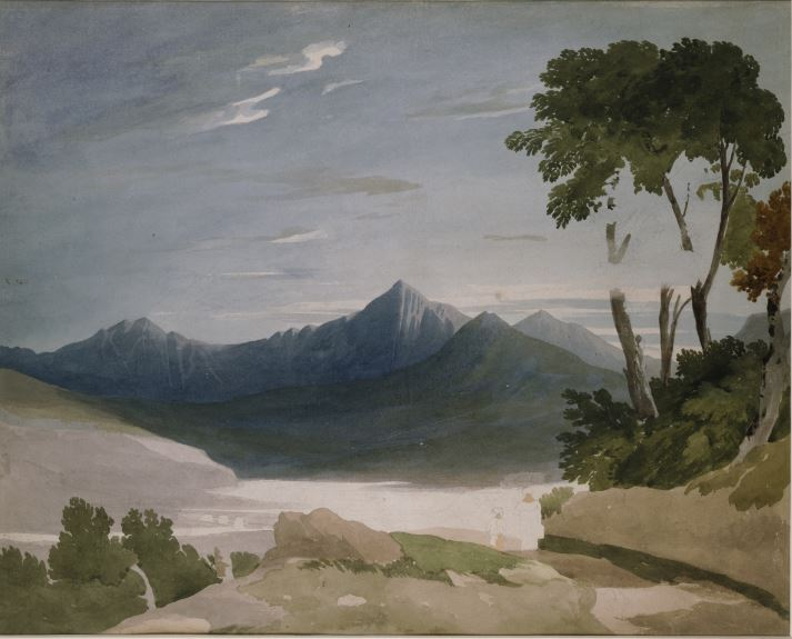 Snowdon from Capel Curig by John Varley (1805-10)
