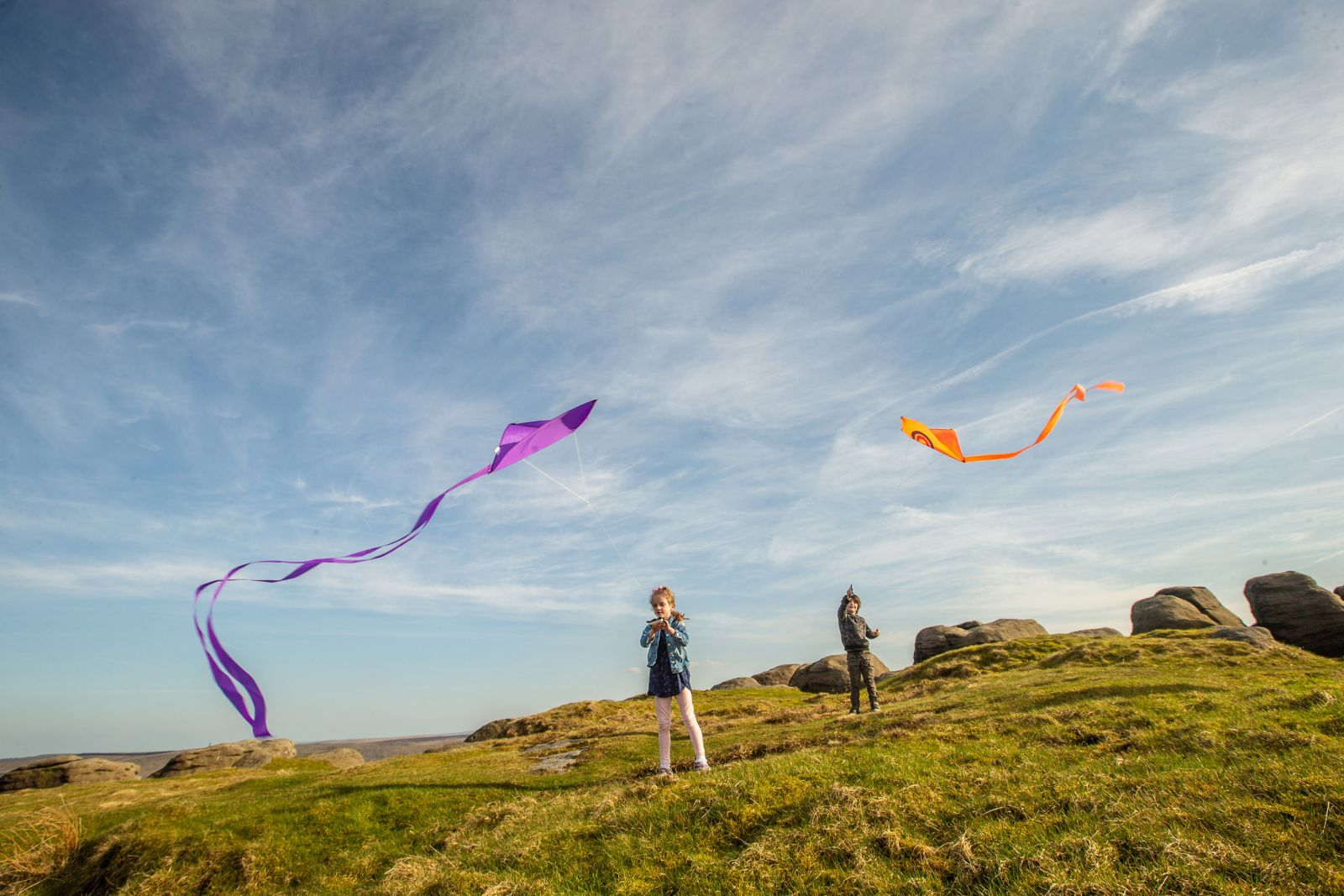 Kite festival in the South Pennines