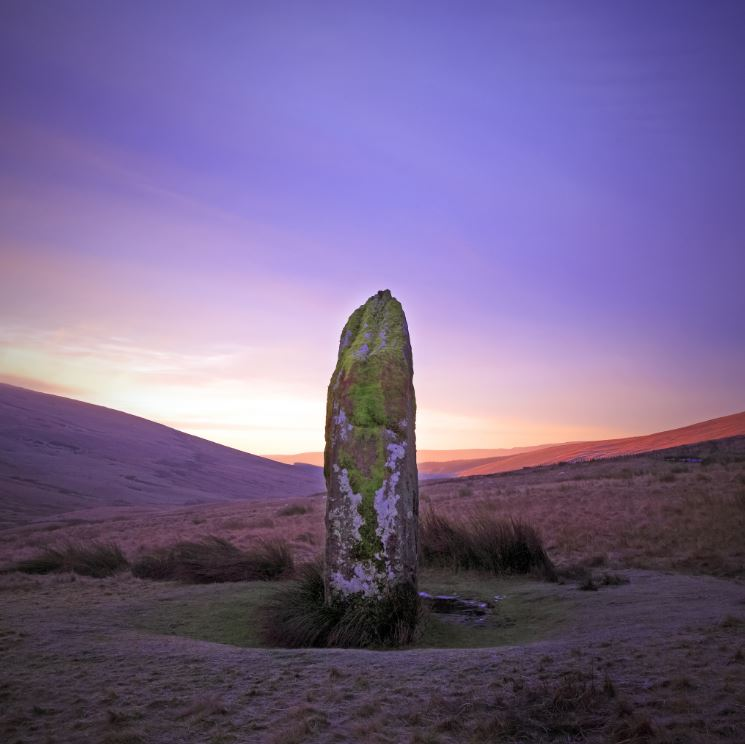 Maen Llia, Standing Stone, Fforest Fawr UNESCO Global Geopark - credit Matt Botwood