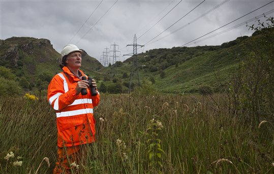 National Grid line inspection