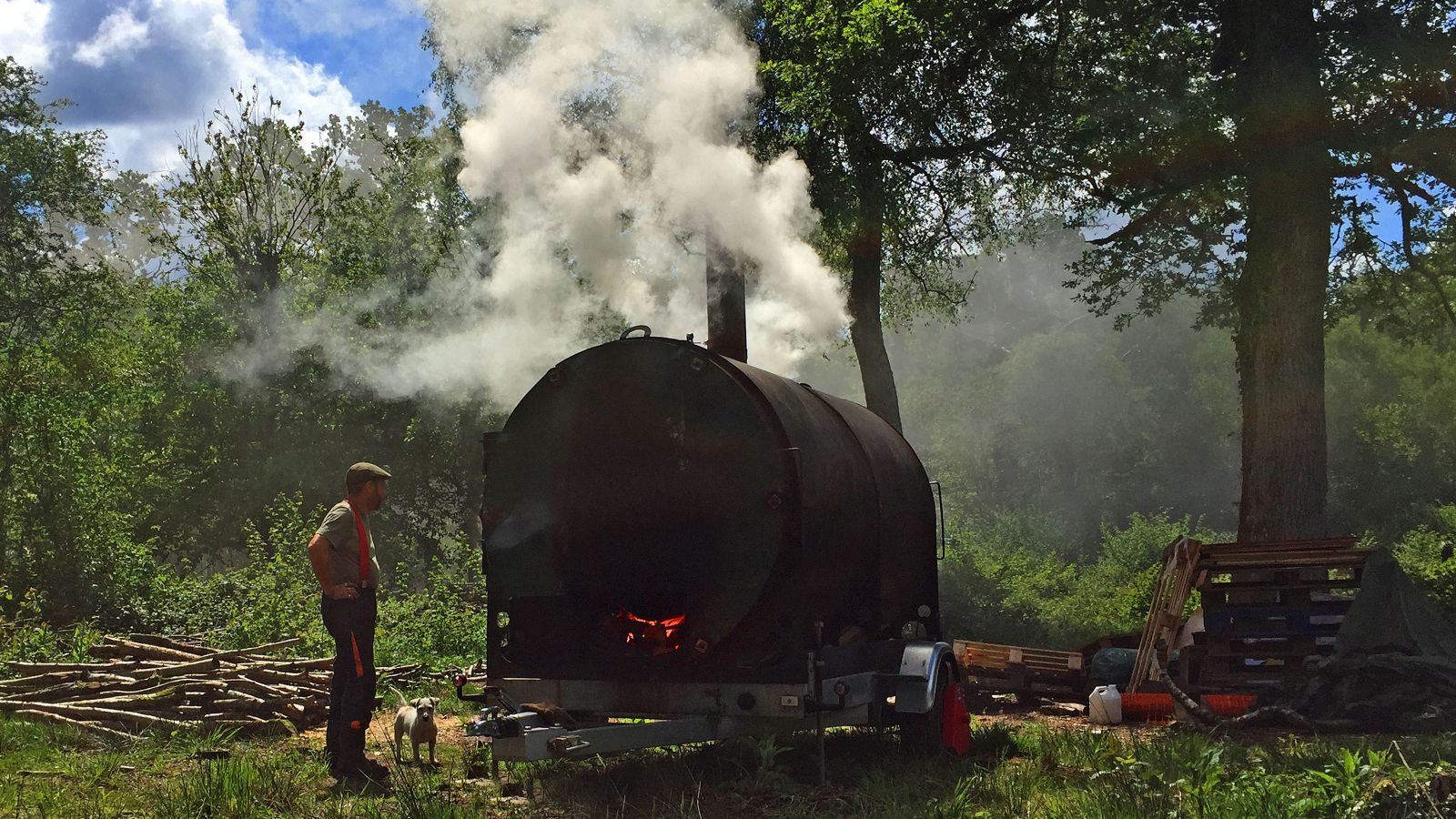 Returning charcoal making to the New Forest