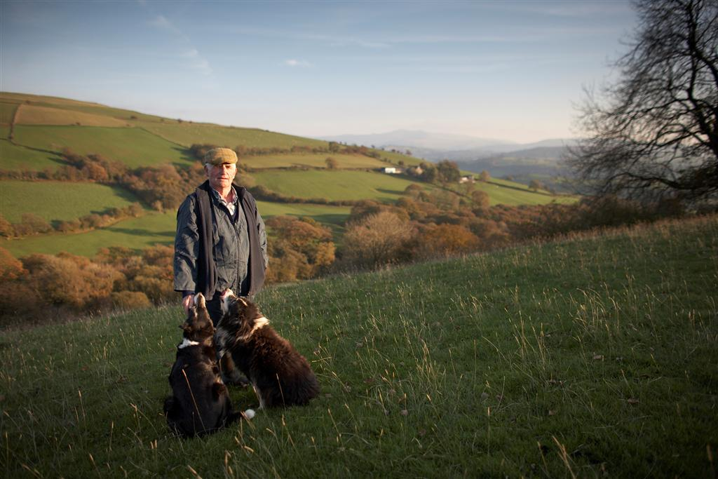 Farmer and his dog. Photo credit: Brecon Beacons National Park Authority