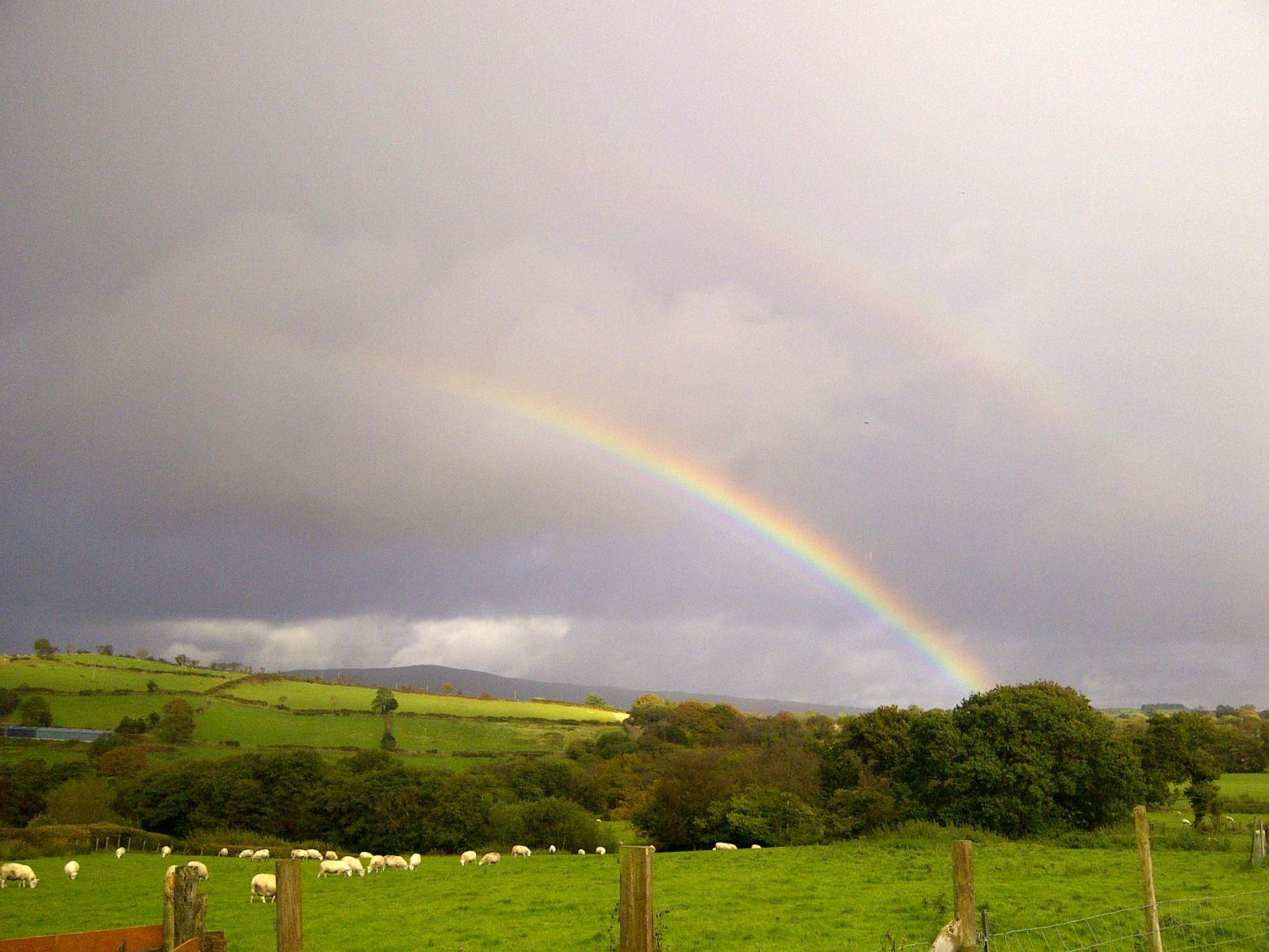 Rainbow in the Brecon Beacons. Credit: CNP
