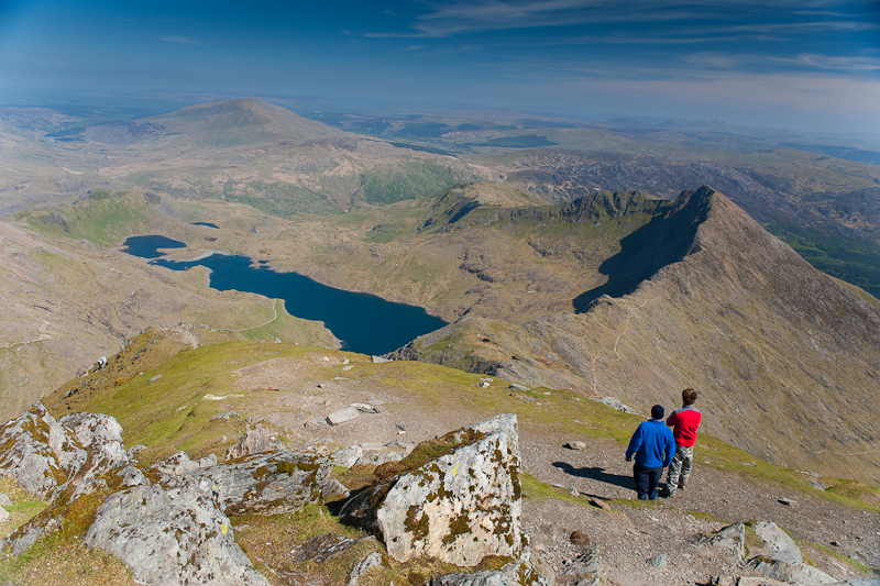 the view from Snowdon. Snowdonia National Park Authority