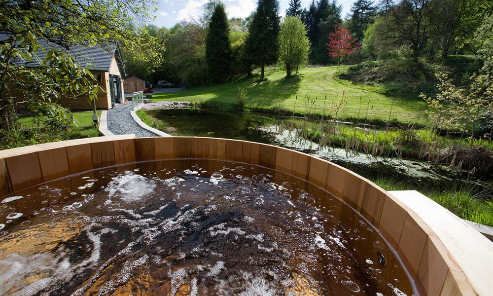 enjoy a hot tub in the Lake District